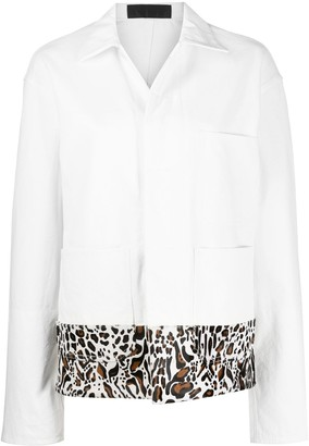 Haider Ackermann Leopard Print Pony Hair Oversized Jacket