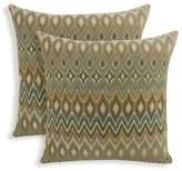 Essentials 2pk San Mateo Woven Flame Stitch Throw Pillow