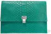 Proenza Schouler Large Lunch Bag Python Clutch