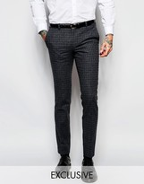 Heart & Dagger Check Suit Trousers In Super Skinny Fit