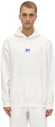 Ufu   Used Future Emb Cotton Jersey Sweatshirt Hoodie