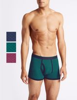 Marks and Spencer 3 Pack Cotton Rich Assorted Trunks