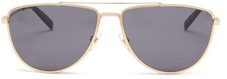 Givenchy Logo-engraved D-frame Metal Sunglasses - Mens - Gold