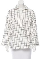Tomas Maier Windowpane Print Oversize Top w/ Tags