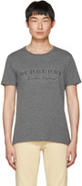 Burberry Grey Devoré Logo Martford T-Shirt