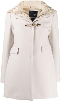 Fay Toggle-Fastening Hooded Coat