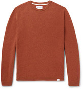 Norse Projects Sigfred Brushed-wool Sweater - Brick
