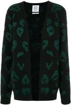 Zoe Karssen leopard intarsia cardigan - women - Acrylic/Nylon/Polyester/Metallic Fibre - XS