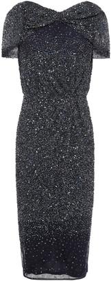 Rachel Gilbert Idalia Gathered Embellished Tulle Dress