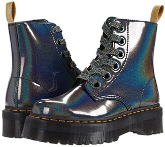 Dr. Martens Vegan Molly (Gunmetal Prysm) Women's Shoes