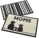 Very Cat/Stripe Pack of 2 Doormats – Great Value!