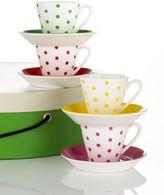 kate spade Larabee Road Demitasse Cups & Saucers, 8-piece set