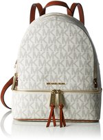 MICHAEL Michael Kors Rhea Zip Medium Backpack Signature/Gold