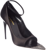 Saint Laurent Edwige 110 Silk & Leather Sandal