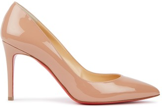 Christian Louboutin Pigalle 85 blush patent leather pumps