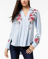 INC International Concepts I.n.c. Petite Embroidered High-Low Blouse, Created for Macy's