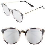BP Women's Metal & Enamel Sunglasses - Black/ White