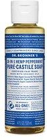 Dr. Bronner's Fair Trade & Organic Castile Liquid Soap - (Peppermint, 4 oz)