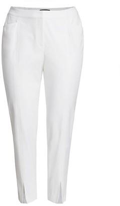 Lafayette 148 New York, Plus Size Waldorf Slit Slim Pants