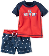Carter's 2-Pc. Mr. Independent Rashguard & Swim Trunks Set, Baby Boys (0-24 months)