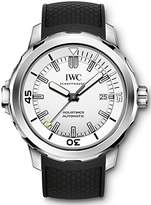 IWC Men's 42mm Black Rubber Band Steel Case Automatic Analog Watch Iw329003