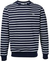Lacoste crew neck striped sweatshirt - men - Cotton - 5