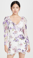For Love & Lemons Wildflower Foil Lace Mini Dress