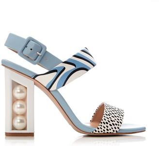 Moda In Pelle Shore Light Blue Leather
