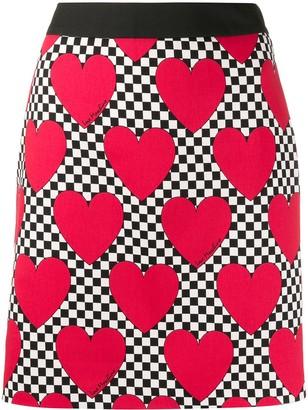 Love Moschino Heart Print Skirt