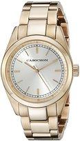 Cabochon Women's 521 De Ce Monde Analog Display Swiss Quartz Rose Gold Watch