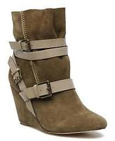 Chocolate Schubar Women's Gis Rounded Toe Ankle Boots In Green - Size Uk 6.5 /