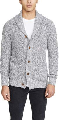 Faherty Long Sleeve Marled Cotton Cardigan