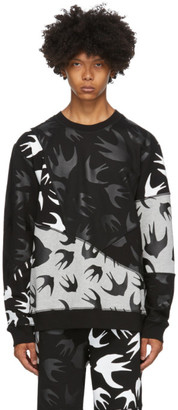 McQ Black and Grey Swallow Sweatshirt