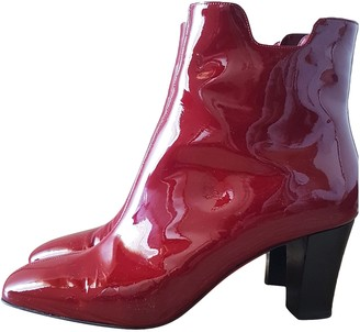 Christian Louboutin Burgundy Patent leather Ankle boots