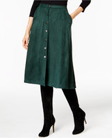 NY Collection Faux-Suede A-Line Skirt