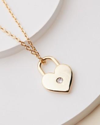 Estella Bartlett Heart Lock Necklace