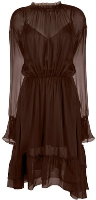 FEDERICA TOSI Ruffled Silk Midi-Dress
