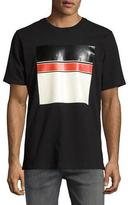 Rag & Bone Colorblock Logo Graphic Crewneck T-Shirt, Black