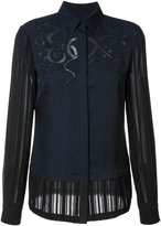 Yigal Azrouel embroidered blouse - women - Silk - 2