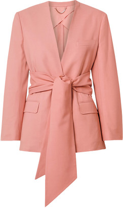 Salvatore Ferragamo Pink Front-tie Jacket