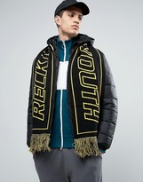 Asos Reversible Football Scarf With Reckless Youth Slogan