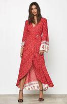 Reverse Tuesday Wrap Front Maxi Dress