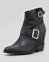 Welda Hidden-Wedge Buckled Bootie