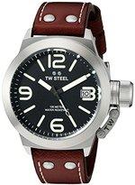 TW Steel Men's CS21 Analog Display Quartz Brown Watch