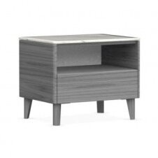 Calligaris Boston 1 - Drawer Nightstand Color: Gray