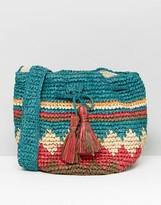 Hat Attack Multi Print Straw Drawstring Bag
