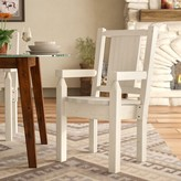 Abella Rustic Hand-Crafted Captain's Solid Wood Dining Chair Loon Peak Color: Natural/Clear Lacquer