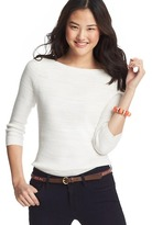 LOFT Slub Cotton 3/4 Sleeve Sweater