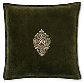 Ralph Lauren Bohemian Muse Bayfield Crest-Embroidered Velvet Square Pillow