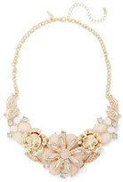New York & Co. Neutral Floral Bib Necklace